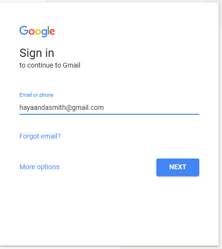 login gmail account page