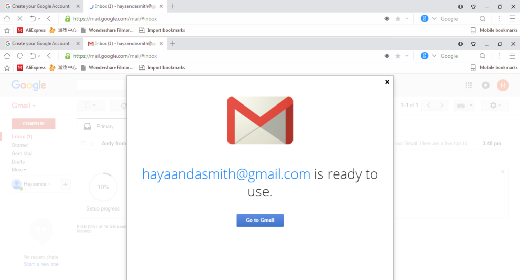 open new gmail account
