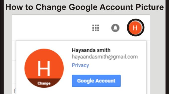 How to Change Google Account Picture